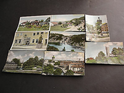 Vintage 1950s-Views of Sweden, Hand Colored Real Photos, SET OF (8) Postcards.