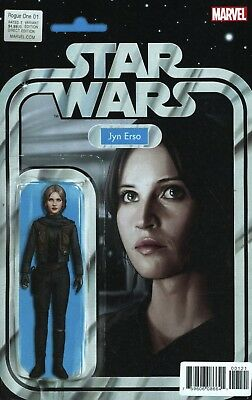 Star Wars Rogue One Adaptation #1 Jyn Erso Action Figure Variant Marvel Comics