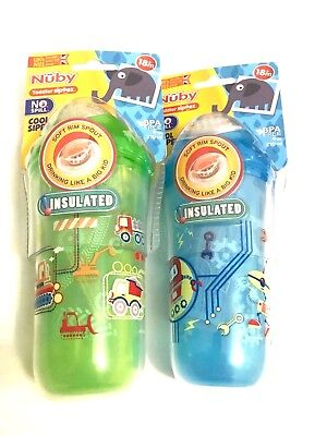 NEW Nuby Insulated Cups 18m+ Spout Beaker 9oz / 270ml