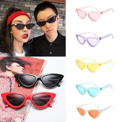 Women Fashion Vintage Retro Cat Eye Triangle Sunglasses Colorful Eyewear Glasses