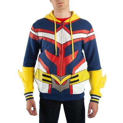 My Hero Academia All Might Hoodie Red Yellow Blue Sweater Cosplay