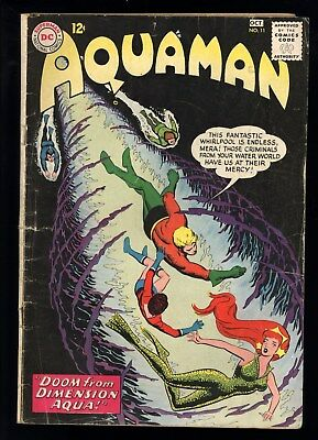 Aquaman (1962) #11 1st Print 1st App Mera Aquaman's Wife Aqualad Nick Cardy GD+
