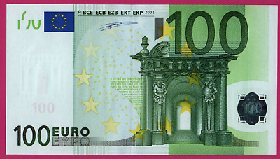 Ireland €100 Euro T Duisenberg signature UNCIRCULATED (2002  1st and only issue)