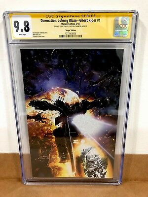 Damnation Johnny Blaze Ghost Rider 1 Cgc 9.8 Signed & Sketch Crain Virgin Cover