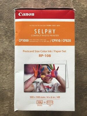 Canon RP-108 Color Ink/Photo Paper, 108 Sheets for SELPHY CP820, CP910, CP1200