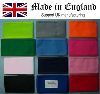 Wrap Armband UK made Arm Band Uniform Team Mourning Black Red Blue All Colours