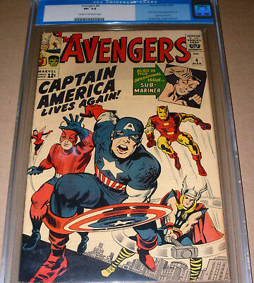 Avengers #4 CGC 7.5 Marvel 1964 1st Silver Age Captain America OLD LABEL Kirby