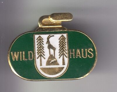 Rare Pins Pin's ..  Sport Hiver Ski Skiing Club Curling Ice Wildhaus Suisse ~D1