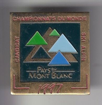 Rare Pins Pin's ..  Sport Hiver Ski Skiing Candidat World Cup 97 Mont Blanc ~D1