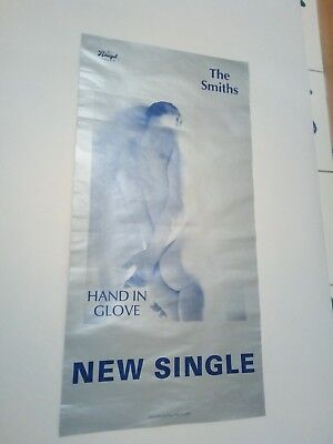 """ORIGINAL VERY GOOD CONDITION SMITHS PROMO POSTER 80s HAND IN GLOVE 24"""" X 11 1/2"""""""
