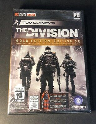 Tom Clancy's The Division GOLD Edition [ Game + Season Pass ] (PC / DVD-ROM) NEW