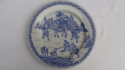 "Early 20Th Century Chinese Export Porcelain Plate 10 1/2"" Hunt Scene  #27"