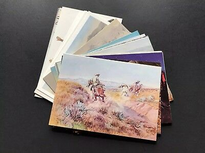 Lot Of 27 - Western Artist - C.m. Russell - Famous Artwork - Printed Postcards