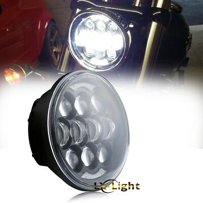 "2018 Brightest 5-3/4"" 5.75"" LED Projector Headlight For Harley Sportster Dyna"