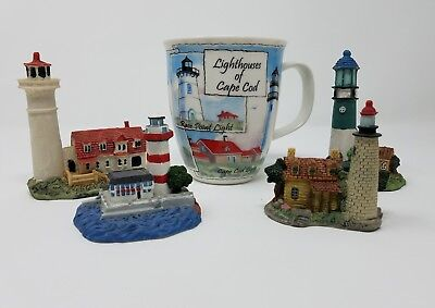 Lighthouse Lovers Lot of 4 Lighthouses & Large Lighthouse Mug - Check it out!