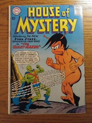 House of Mystery #143 (Jun 1964, DC) First Manhunter from Mars!