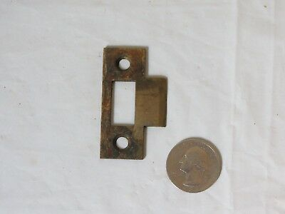 "Antique small 2"" Solid Brass Mortise door single bolt lock latch strike plate"