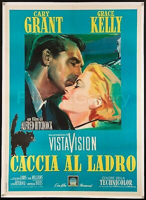 TO CATCH A THIEF Italian 2F L/B Hitchcock Cary Grant Grace Kelly FilmArtGallery