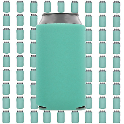 Robin's Egg Blue Beverage Insulators Can Coolers Lot of 15 Blank Drink Sleeves