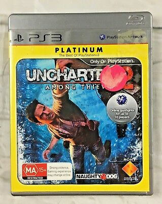 Uncharted 2 Platinum Edition Among Thieves PS3 Game, 2009 - Region 4