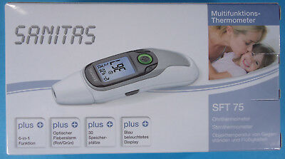 Multifunktions- Thermometer 6 in 1 von Sanitas, Modell SFT 75, neu & OVP
