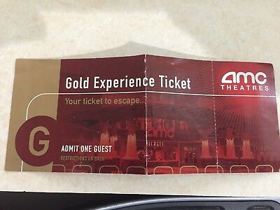 One 1 AMC Gold Experience Movie Ticket