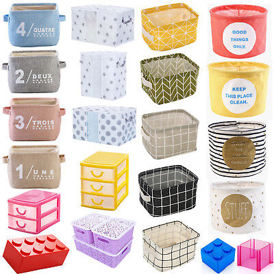 Foldable Storage Box Bin Closet Toy Container Organizer Fabric Basket Hot
