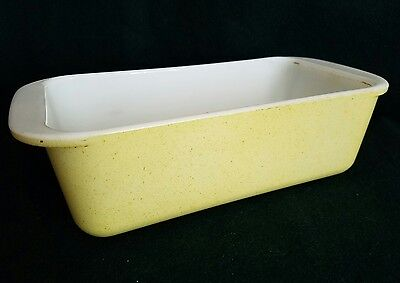 Vintage Hard to Find Pyrex Yellow Desert Dawn Loaf Pan 213 - Free Shipping