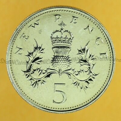 Uk 5 New Pence 1977 Specimen