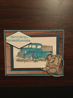 Stampin Up Card Birthday Card For Man 316 Picclick