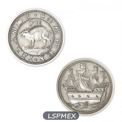 Colonial Currency Series Sommer Islands Hogge Money 2 oz Silver Antiqued Round