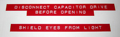 Back to the Future Prop Replica - Flux Capacitor Labels - Screen Accurate Rotex