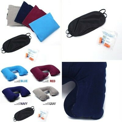 Soft Inflatable Travel Pillow Air Cushion Neck Rest U-Shaped Compact Flight