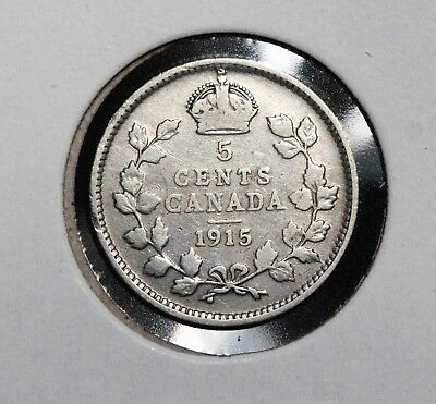1915 5C Canada 5 Cents BETTER GRADE KEY DATE SEE MY CANADIAN LISTINGS!