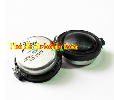 "1""inch 30mm 8ohm 20W tweeter Neodymium Silk film Speaker Loudspeaker Home Audio"