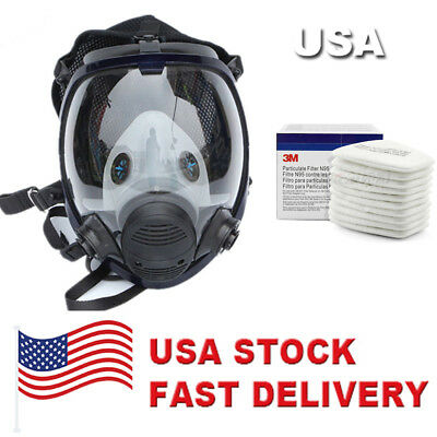 For 3M 6800 Facepiece Respirator Full Face Painting Spraying Gas Mask USA SELLER