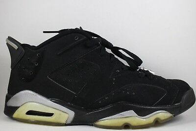 bdb0be7e44f163 2002 Nike Air Jordan 6 VI Low Retro Chrome Black Metallic Silver size 10
