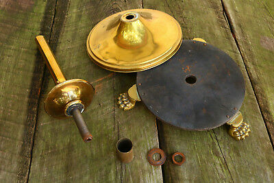LOT OF VINTAGE LAMP LIGHT PARTS Old Brass Shaft BASE Lion FEET Steam AS IS