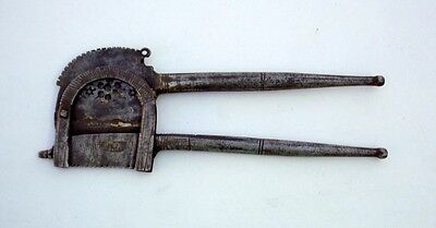 Antique Hand Made Engraved Big Iron Betel Nut Cutter Old Engraved Design Sarota