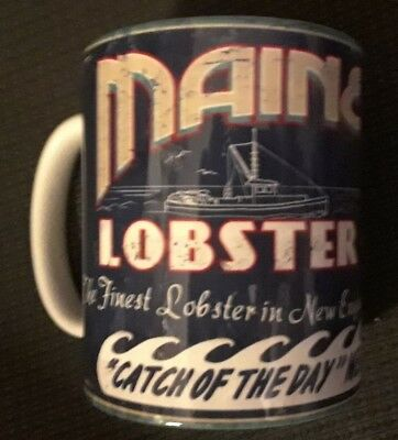 "Portland Maine Lobster Coffee Tea Cup Mug 10oz 3.75"" Brand New"