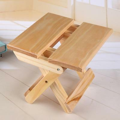 Shower Stool Seat Bathroom Spa Bench Folding Chair Bamboo Wood Bath Foot Rest