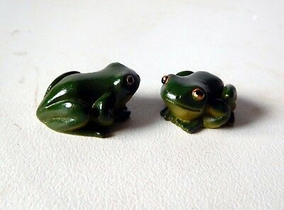 24 Tiny GREEN FROGS for FAIRY GARDEN or CAKE DECORATION
