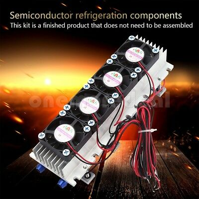 12V 4 Chip TEC1-12706 Thermoelectric Peltier Air Radiator Refrigeration Cooler/