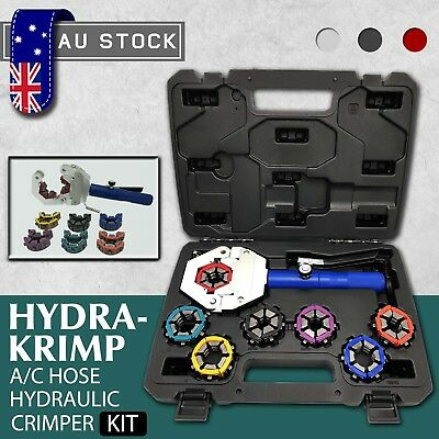 Hydraulic Hose Crimper Kit Hydra-Krimp A/C Pipe Fittings Crimping Tool Set