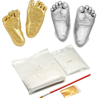 3D Plaster Handprints Footprints Baby Hand Foot Mold Casting Kit Keepsake Gift