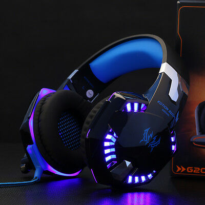 EACH G2000 3.5mm Gaming Headset with MIC LED Headphones for PC PS4 Xbox One UK