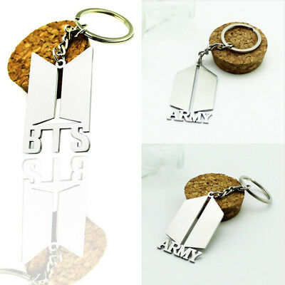 Fashion Kpop BTS Bangtan Boys ARMY Metal Pendant Keychain Keyring Gift UK