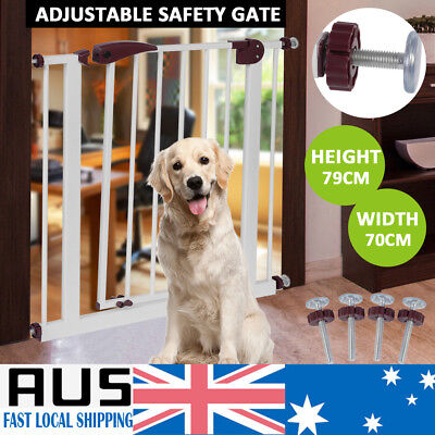 79cm Tall Baby Child Safety Security Gate Adjustable Pet Dog Stair Barrier Fance