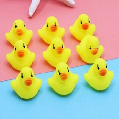 100x Yellow Rubber Ducks Bathtime Squeaky Bath Toy Water Play Kids Toddler 3-4cm