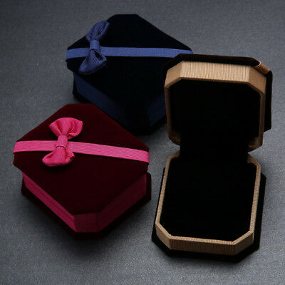 EE_ FM- Bowknot Decor Necklace Ring Earrings Show Case Display Storage Gift Box
